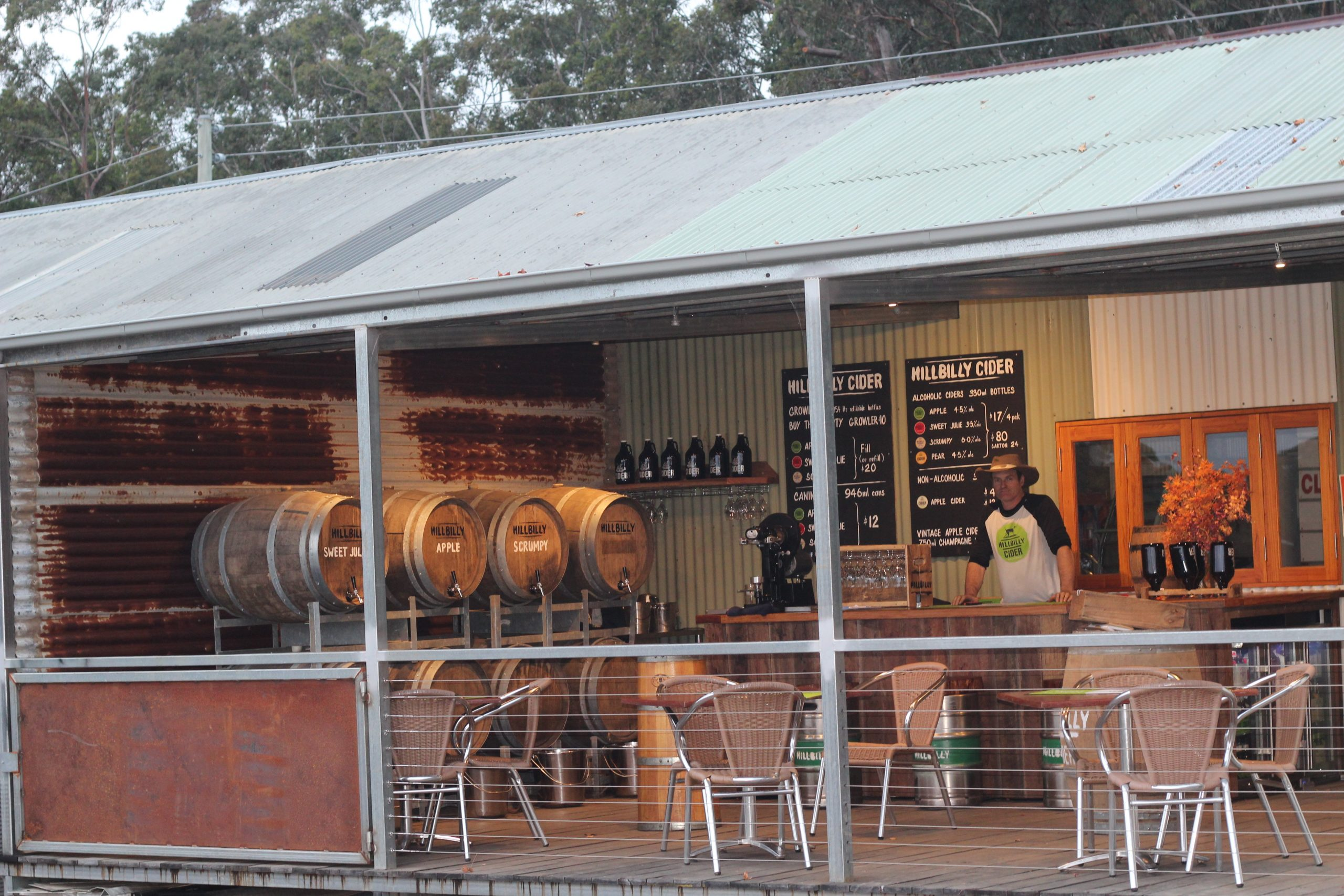 Qantas Magazine lists Hillbilly Cider shed as number 1 on the list.
